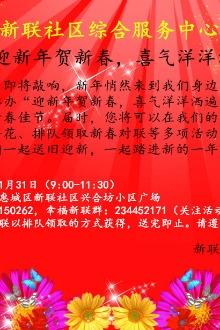 """""""迎新春贺新年,喜气洋洋洒遍新联""""文明社区公益活动"""