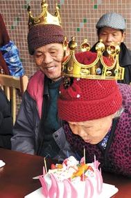 走进双桂敬老院为老人办生日会-让关爱成为习惯