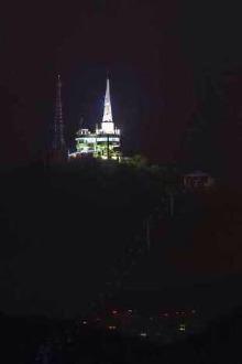 《暮色阑珊之夜探箐山》  —夜攀山,滨海徒