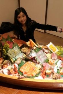 1月10日去广州食龙虾刺身船