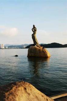 珠海渔女看日出