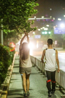 饭后散步,欢迎武汉孕妇一起出来散步