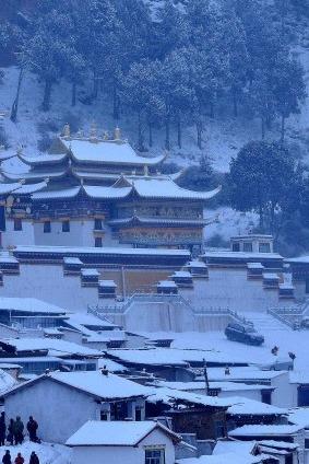 新年的盛宴:郎木寺晒佛教