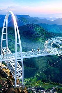 8.27日  石林峡挑战世界第一悬空钛合金玻璃