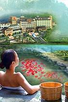 冬季温泉:泰山温泉城,森林中、泡温泉、观泰山