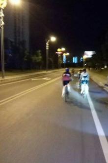 晚上有约骑单车的嘛?围绕城一圈30公里