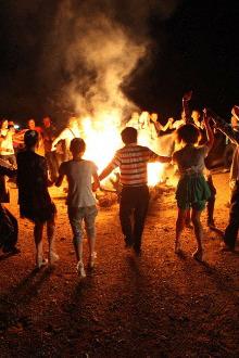 8月20日七夕情人节南坝小河口烧烤,篝火。