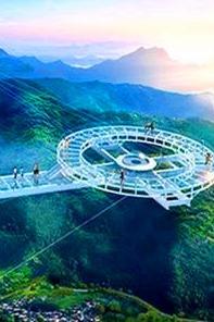 """6月2·石林峡挑战世界第一悬空钛合金玻璃""""UFO"""""""